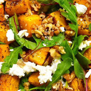 Roasted Pumpkin, Walnut, Feta & leaf salad |Mushroom Catering, Sydney's Premier Corporate, Private and Event Caterers