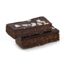 RAW Dark chocolate almond & mint slice (GF)