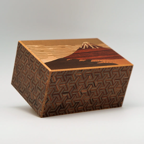 Hakone Maruyama Inc Puzzle Box Japanese Puzzle Box 14steps (dual compartment)