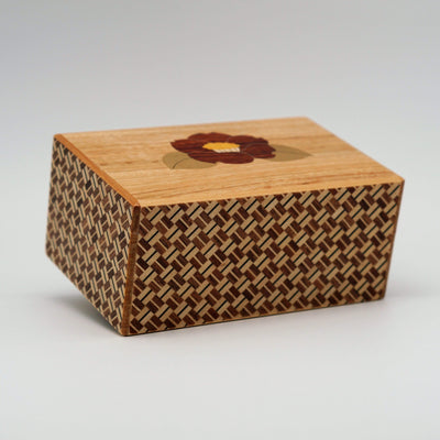 Japanese Handmade Puzzle Box 5 Sun 10 Steps Kaminari-Fuji and Tsub
