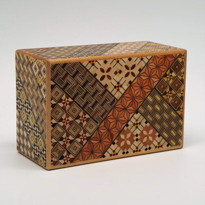 Japanese Handmade Puzzle Box 5 Sun 14 step Large Box
