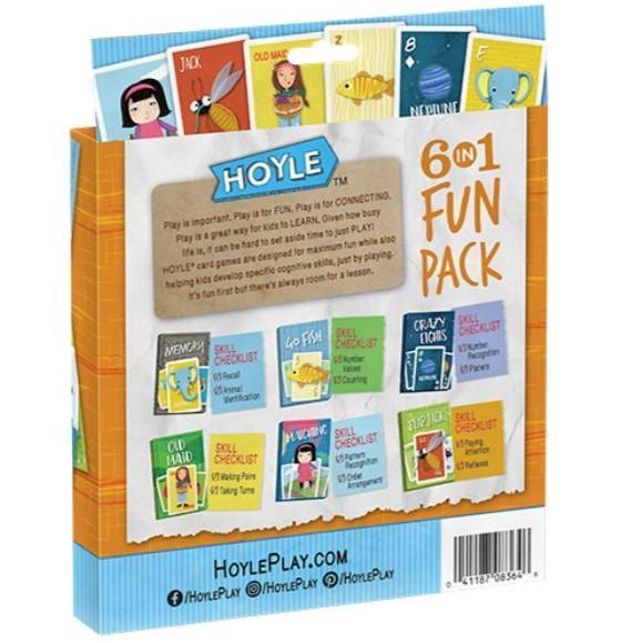 US playing card company Playing Cards Hoyle 6 in 1 Fun Pack