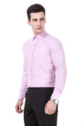 Solid Tailored Fit Light Purple Cotton Shirt