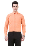 Solid Tailored Fit Saffron Cotton Shirt