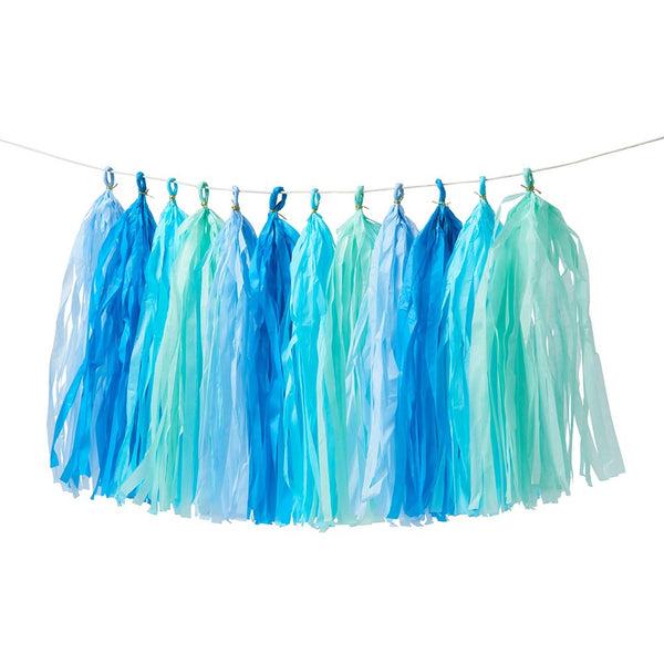 Blue Tassel Garland - Whoot Party Boutique