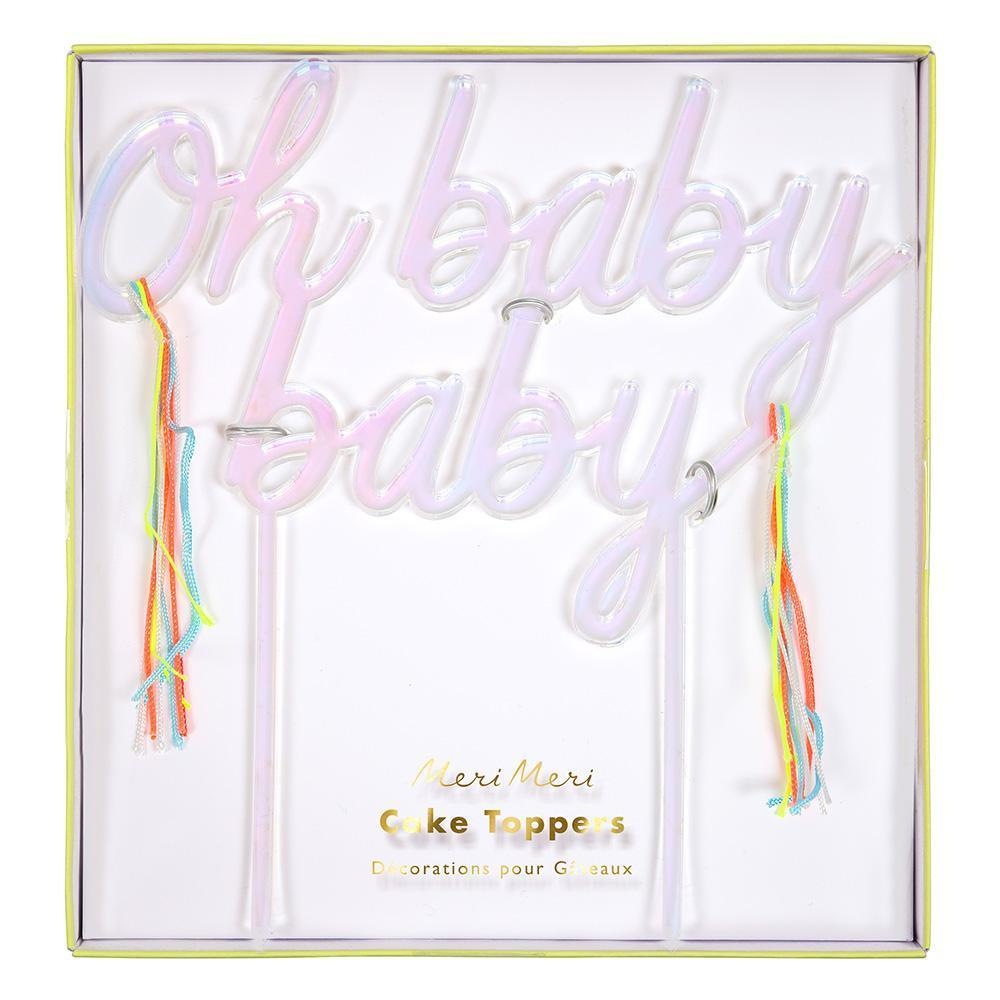 Oh Baby Baby Acrylic Topper - Whoot Party Boutique