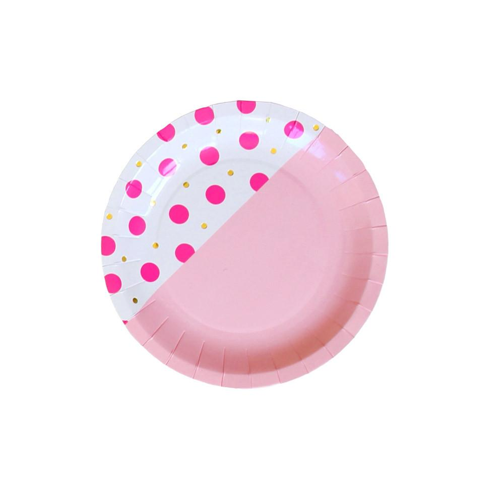 Flamingo Dot Small Plate - Whoot Party Boutique