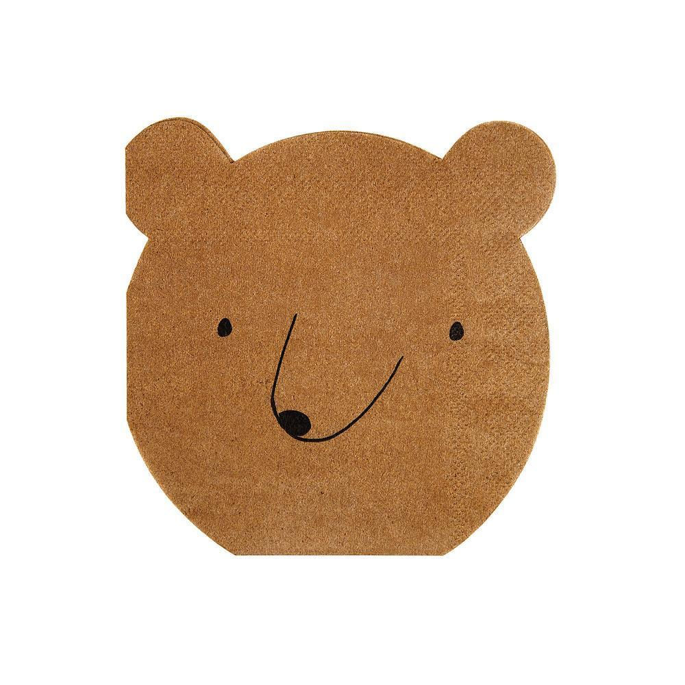 Bear Napkins (small) - Whoot Party Boutique
