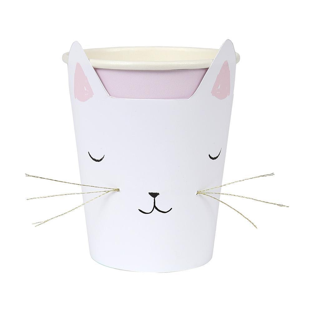 Cat with Whiskers Cups - Whoot Party Boutique