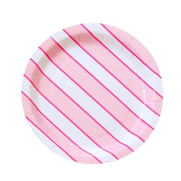 Flamingo dot large plates - Whoot Party Boutique
