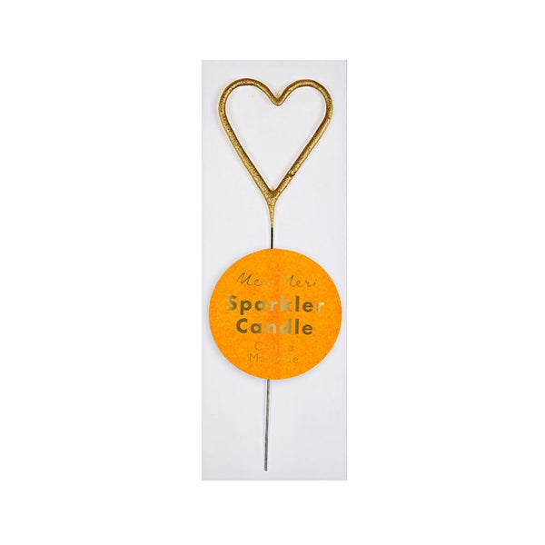 Gold Sparkler Heart Mini Candle - Whoot Party Boutique