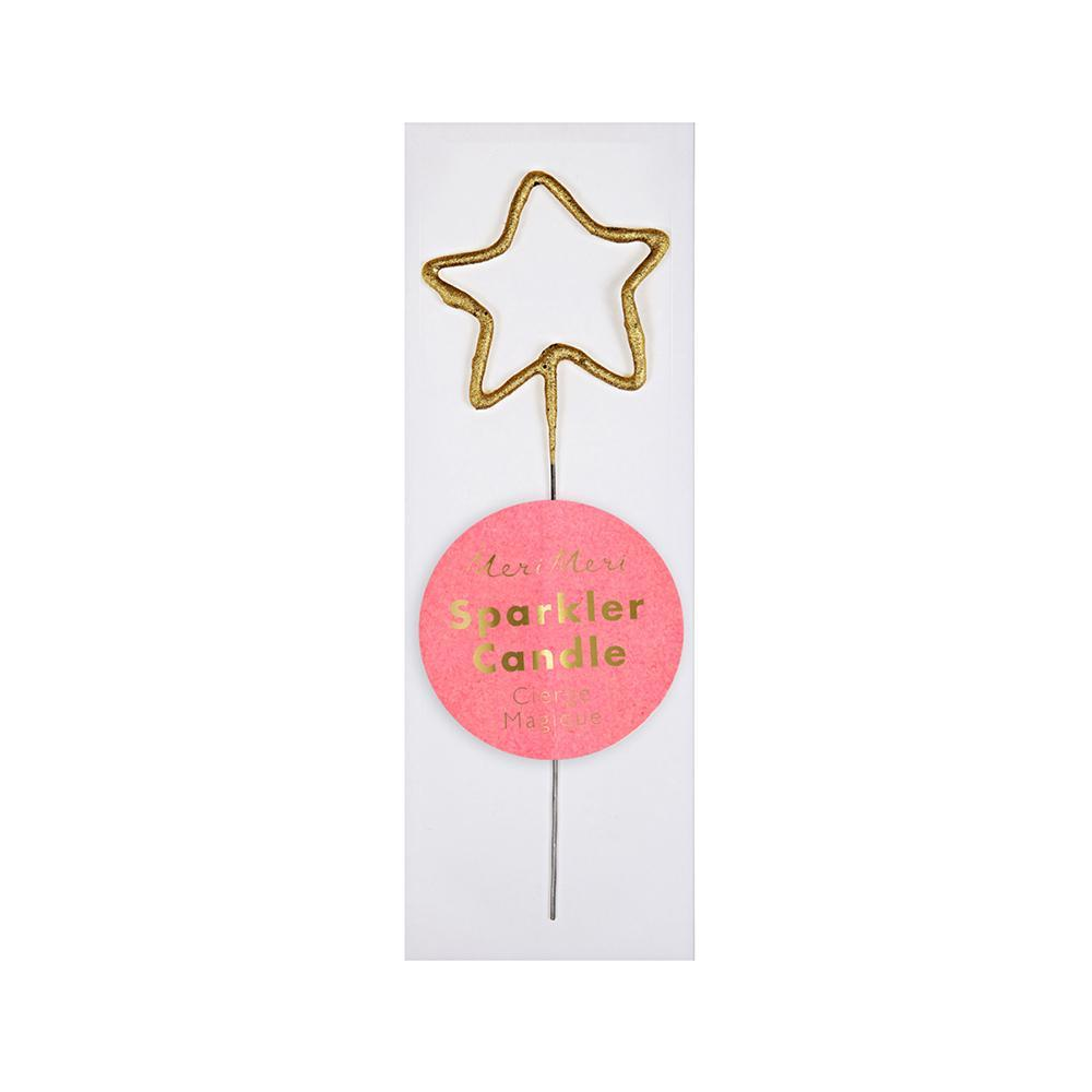 Gold Sparkler Star Mini Candle - Whoot Party Boutique