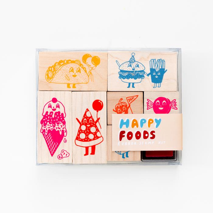 Happy Foods Stamp Kit - Whoot Party Boutique