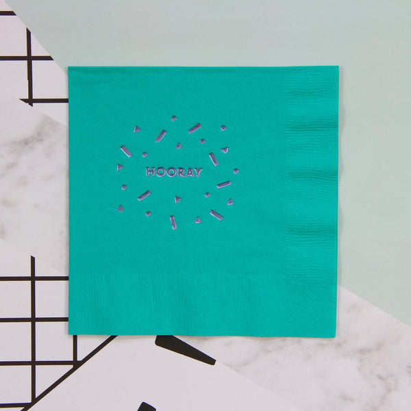 Hooray Foil Napkins - Whoot Party Boutique