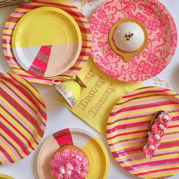 Lemon Slice Large Plates - Whoot Party Boutique