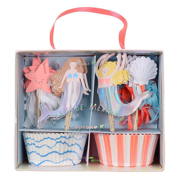 Let's Be Mermaids Cupcake Kit - Whoot Party Boutique