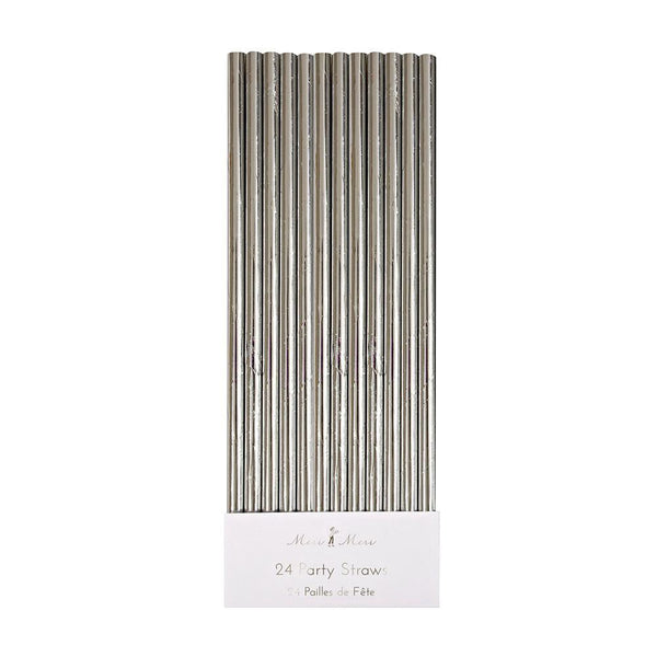 Silver Foil Party Straws - Whoot Party Boutique