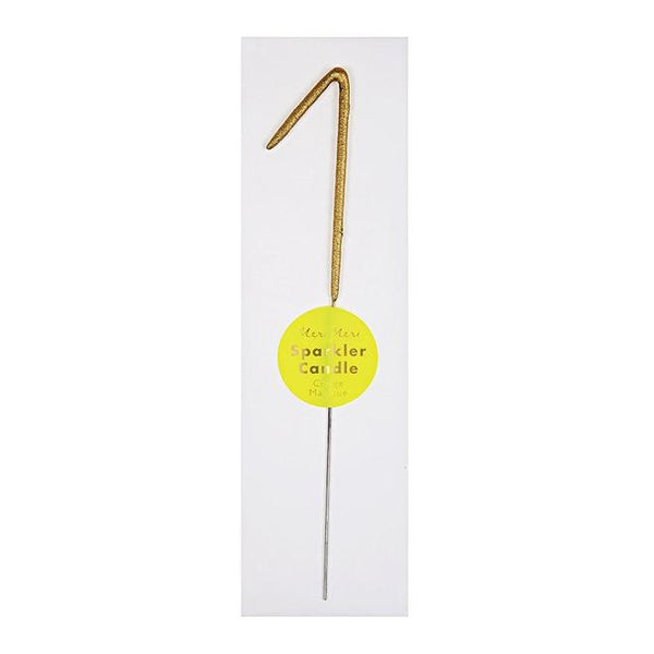 Gold Sparkler Number 1 Candle - Whoot Party Boutique