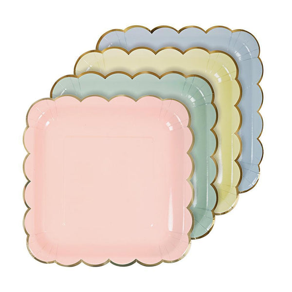 Pastel Asst Plates (large) - Whoot Party Boutique