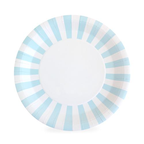 Powder Blue Large Plate - Whoot Party Boutique