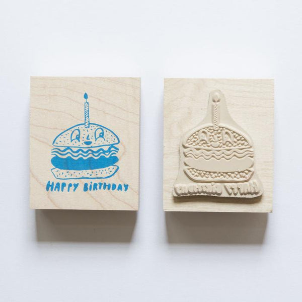 Burger Birthday Rubber Stamp - Whoot Party Boutique