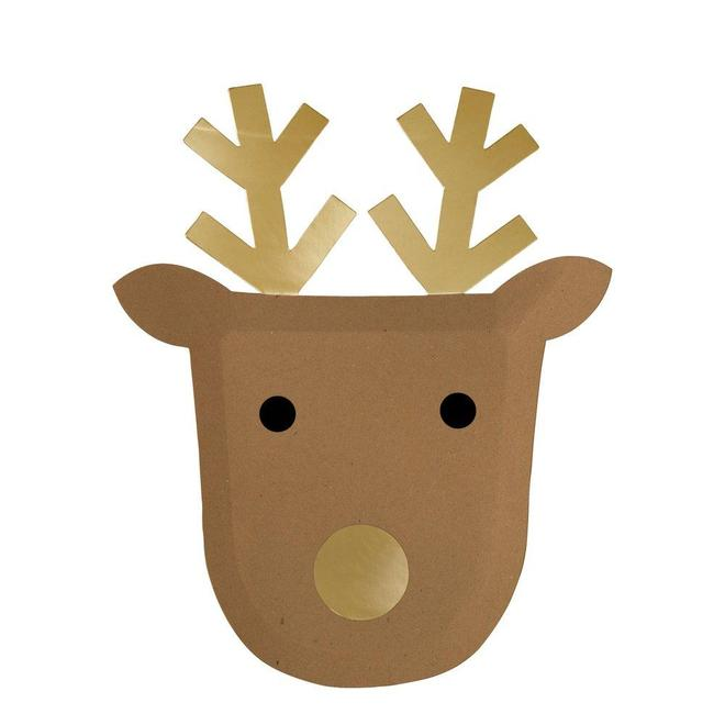 Reindeer Plates - Whoot Party Boutique
