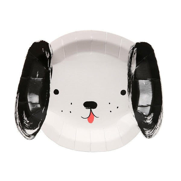 Black & White Dog Plates - Whoot Party Boutique