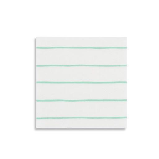 Frenchie Mint Striped Petite Napkins - Whoot Party Boutique