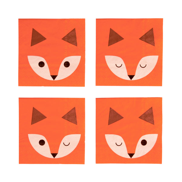 Mini Fox Napkins - Whoot Party Boutique