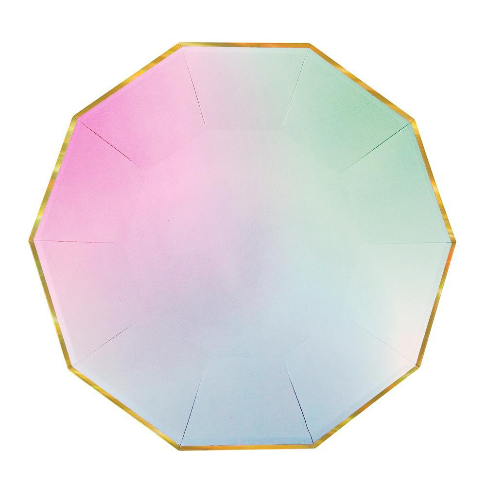 Ombre Large Plates - Whoot Party Boutique