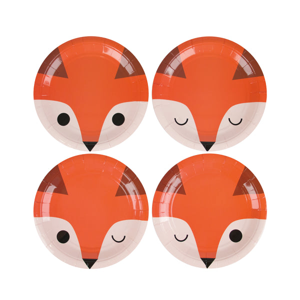 Mini Fox Plates - Whoot Party Boutique