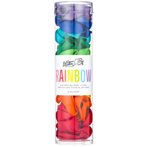 Rainbow Mini Balloons - Whoot Party Boutique