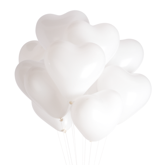 White Heart Balloons - Whoot Party Boutique