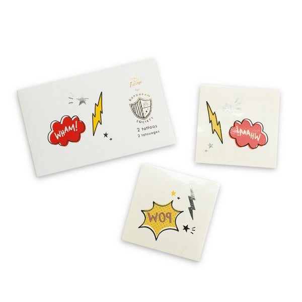 Superhero temporary tattoos - Whoot Party Boutique