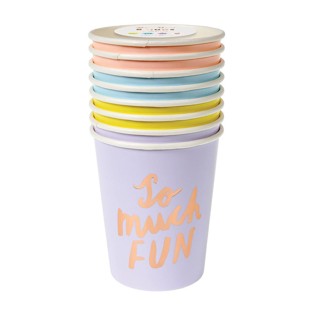 Typographic Cups - Whoot Party Boutique