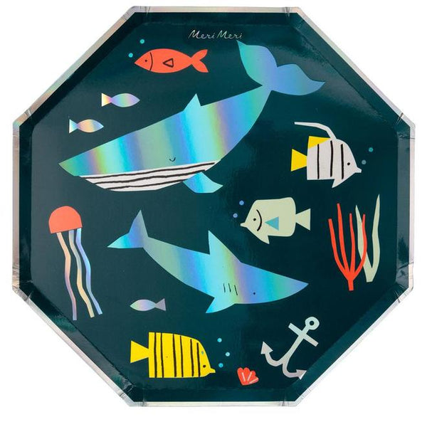 Under The Sea Shark Dinner Plates - Whoot Party Boutique