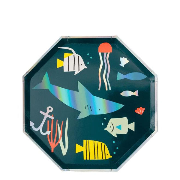 Under The Sea Shark Side Plates - Whoot Party Boutique