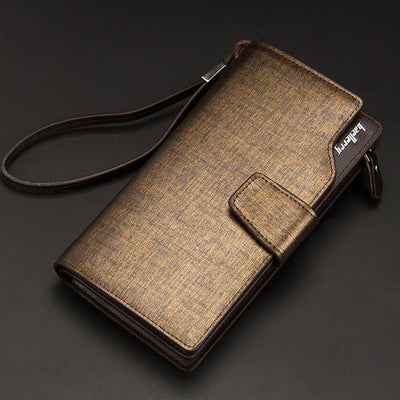 Men Wallets Long Men Purse Wallet Male Clutch Leather Zipper Wallet Men
