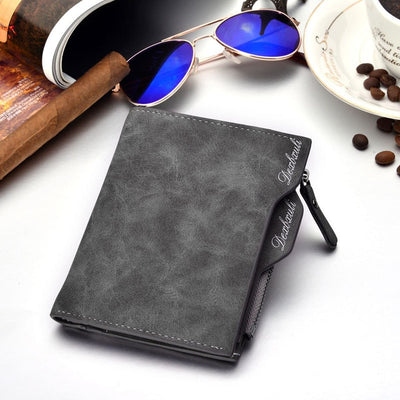 Wallet Men Soft Leather wallet with removable card slots multifunction men