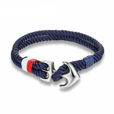 High Quality Anchor Bracelets Men Charm Nautical Survival Rope Chain Paracord