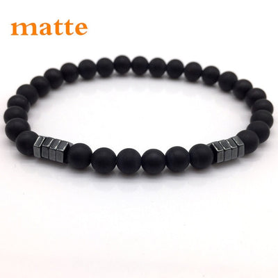 2018 New Fashion Geometric Beaded Men Bracelets Simple Classic Stone Bead Charm Bracelets