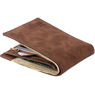 Fashion 2018 Men Wallets Mens Wallet with Coin Bag Zipper Small Money