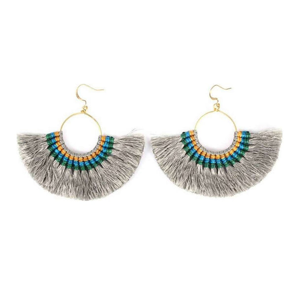 Melani | Tassel Fan Earrings - Belli-Belle
