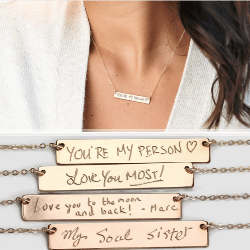 Claudette | Name Bar Necklace - Belli-Belle