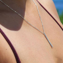 Load image into Gallery viewer, Claudine CZ Drop Bar Necklace - Belli-Belle