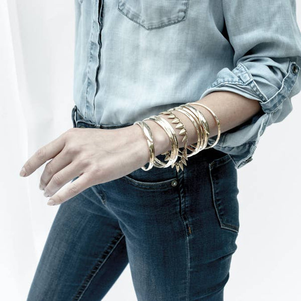 Hanna Grain Link Gold Bracelet - BELLI~BELLE Boutique