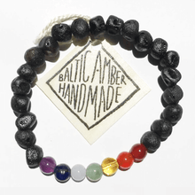 Load image into Gallery viewer, Yana | Natural Chakra Crystal and Amber Bead Bracelets - Belli-Belle