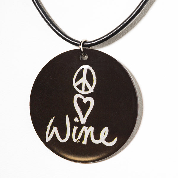 Peace Love Wine - Cheeryos Jewelry