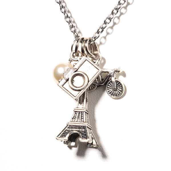 Eiffel Tower Charm Necklace - Cheeryos Jewelry