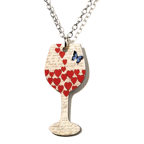 Butterfly Wine Necklace